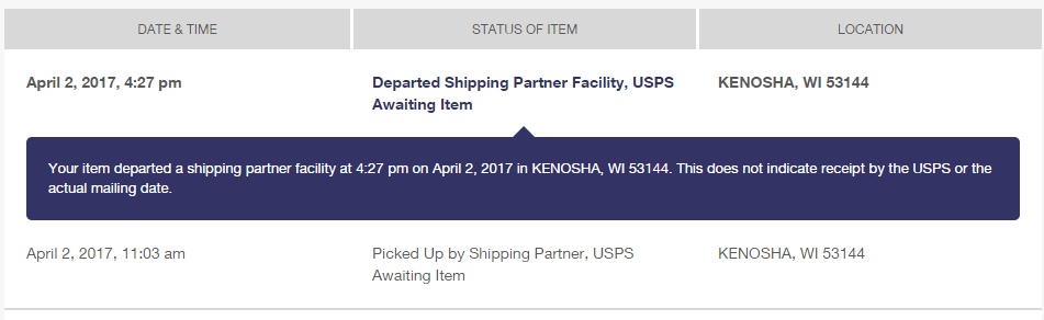 Shipping Text